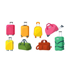 travel luggage plastic case metal backpacks and vector image