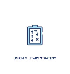Union military strategy concept 2 colored icon vector