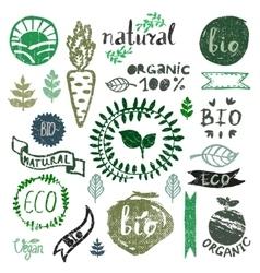 Watercolor logotypes setBadges labelsgreen vector