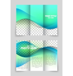 Wave aqua brochure vector