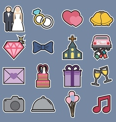 wedding icon vector image