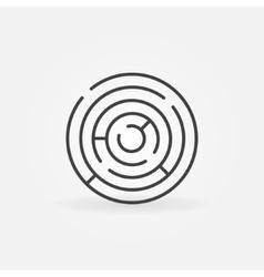 Round maze icon vector image vector image