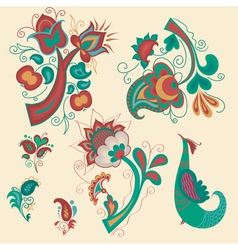 Set of patterns in Russian style vector image vector image