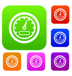 speedometer set collection vector image vector image