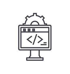 web development concept thin line icon vector image