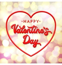 3d lettering Happy Valentines day vector image