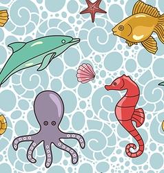 colorful ocean pattern vector image