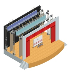 Isometric Theater Stage Poster vector image vector image