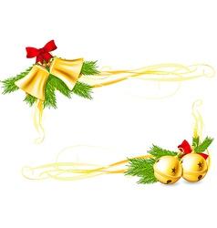 Jingle bells and christmas decorative corners vector