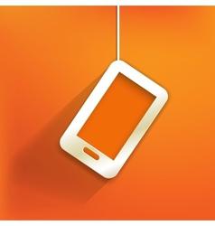 Phone web iconflat design vector image