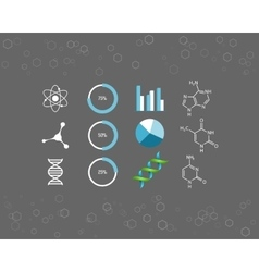 Science icons and chemical element formulas vector image vector image