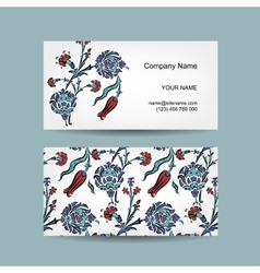 Set of business cards design turkish ornament vector image vector image