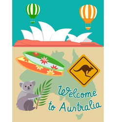 Australia attributs vector image