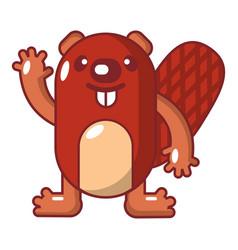 beaver icon cartoon style vector image
