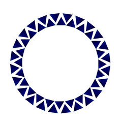 decorative triangle circle frame vector image vector image