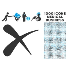Erase Icon with 1000 Medical Business Symbols vector image vector image