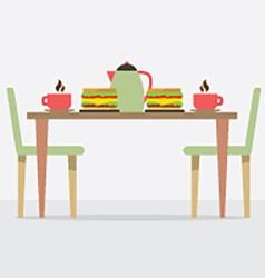 Flat Design Breakfast On Table vector image vector image