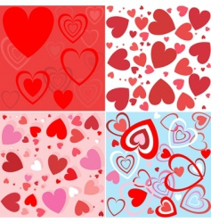 heart seamless wallpaper vector image vector image