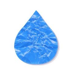 Paper Water Drop vector image vector image