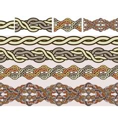 celtic weaving vector image vector image