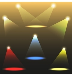 colorful light sources set vector image