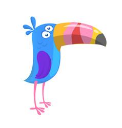 funny cartoon toucan vector image