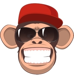 Happy monkey vector image vector image