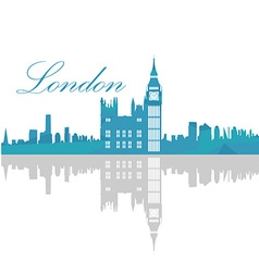 Isolated London skyline vector image