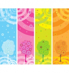 set of four seasons banners vector image vector image