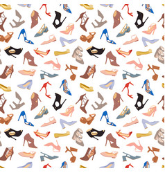 womens shoes flat fashion footwear design vector image vector image