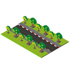3d design for empty road and pavement vector