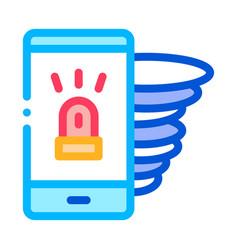 alarm smartphone icon outline vector image