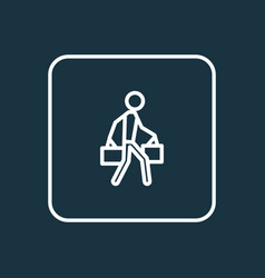 bags outline symbol premium quality isolated vector image