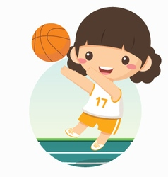 Basketball girl vector