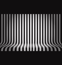 Black white line pattern studio display empty vector