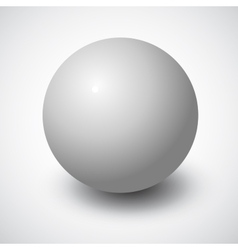 Blank grey sphere vector image