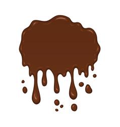 Brown splash liquid vector