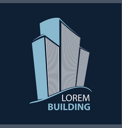 building symbol architecture business vector image