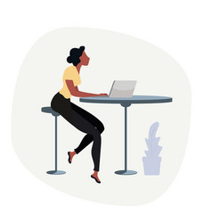 businesswoman with computer concept vector image