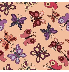 Cartoon butterflies fly vector image