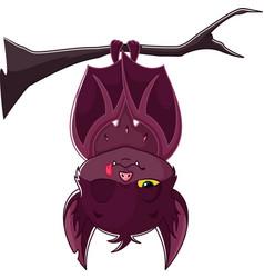 cartoon sleeping bat vector image