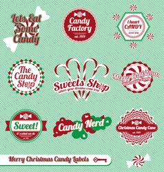 Christmas Candy Labels and Icons vector image vector image