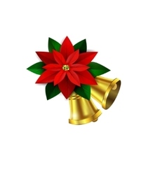 Christmas decorative corner vector image