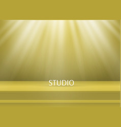 color studio table vector image