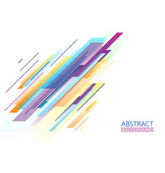 Colorful abstract geometric shapes background vector