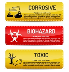 Corrosive Biohazard Toxic - Danger sign set vector image