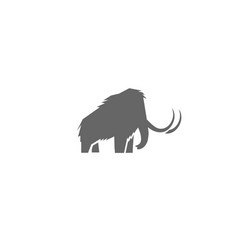 creative gray elephant logo vector image