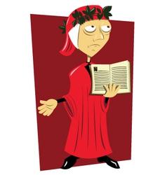 Dante Alighieri vector image
