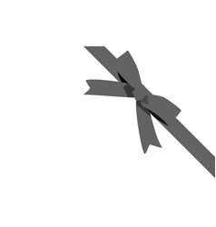 decorative black bow with horizontal ribbon vector image