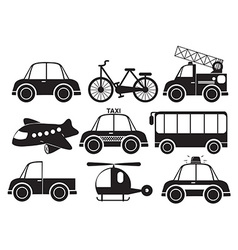 Different type of vehicles vector